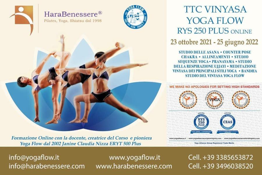 TTC Vinyasa Yoga Flow RYS 250 PLUS ONLINE 2021